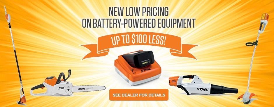 SAVE NOW on STIHL Lithium-Ion!